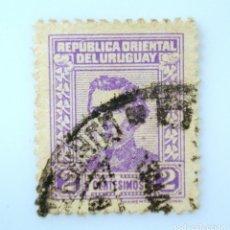 Sellos: SELLO POSTAL URUGUAY 1939, 2 C, GENERAL JOSÉ ARTIGAS, USADO. Lote 231809250