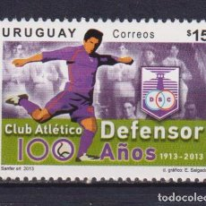 Sellos: UY3291 URUGUAY 2013 MNH FOOTBALL - THE 100TH ANNIVERSARY OF CLUB ATLETICO DEFENSOR. Lote 236772960
