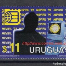 Sellos: UY2312 URUGUAY 1997 MNH EXHIBITION OF THE PHILATELIC AUDIO-VISUAL AND COMPUTER SYSTEMS. Lote 236773025