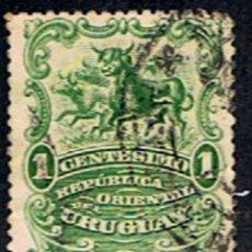 Sellos: URUGUAY // YVERT 152 // 1900-10 ... USADO. Lote 243628320