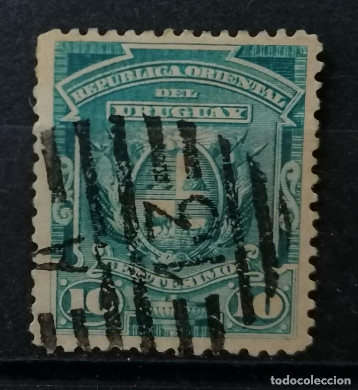 1889.URUGUAY,NUMEROS Y LETRAS, 10 Ç . *MH, ( 21-331) (Sellos - Extranjero - América - Uruguay)
