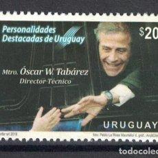 Sellos: ⚡ DISCOUNT URUGUAY 2018 NOTABLE PERSONALITIES MAESTRO TABÁREZ MNH - CELEBRITIES. Lote 255655805