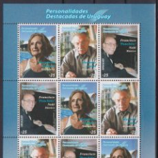 Sellos: ⚡ DISCOUNT URUGUAY 2020 OUTSTANDING PERSONALITIES OF URUGUAY MNH - CELEBRITIES, WRITERS, MUS. Lote 260587810