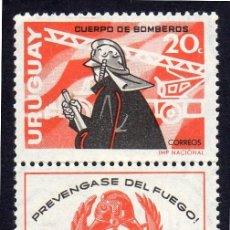 Timbres: AMÉRICA. URUGUAY. LUCHA CONTRA EL FUEGO. YT746 NUEVO SIN CHARNELA. Lote 261135225