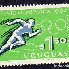 Sellos: AMÉRICA. URUGUAY. JUEGOS OLÍMPICOS DE TOKIO. YT PA272 NUEVO SIN CHARNELA. Lote 261136030