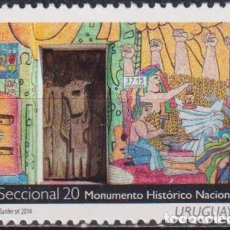 Sellos: ⚡ DISCOUNT URUGUAY 2014 HISTORICAL MONUMENTS - SECCIONAL 20 MNH - MONUMENTS. Lote 262873940