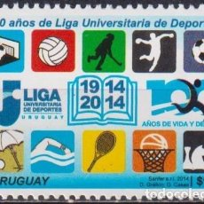Sellos: ⚡ DISCOUNT URUGUAY 2014 THE 100TH ANNIVERSARY OF THE UNIVERSITY SPORT LEAGUE MNH - SPORT. Lote 262873955