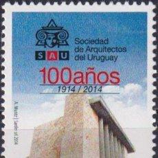 Sellos: ⚡ DISCOUNT URUGUAY 2014 THE 100TH ANNIVERSARY OF S.A.U. MNH - ARCHITECTURE. Lote 262873970