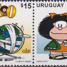 Sellos: ⚡ DISCOUNT URUGUAY 2014 COMICS - THE 50TH ANNIVERSARY OF MAFALDA MNH - PICTURE. Lote 262874010