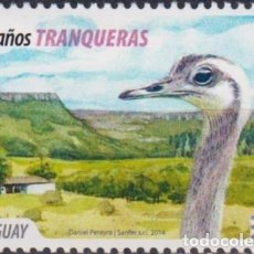 Sellos: ⚡ DISCOUNT URUGUAY 2014 THE 100TH ANNIVERSARY OF THE CITY OF TRANQUERAS MNH - OSTRICHES. Lote 262874035
