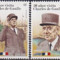 Sellos: ⚡ DISCOUNT URUGUAY 2014 THE 50TH ANNIVERSARY OF THE VISIT OF CHARLES DE GAULLE MNH - STATE L. Lote 262874160