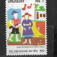Sellos: URUGUAY Nº 1038 (**). Lote 276465388