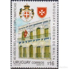 Sellos: UY2936 URUGUAY 2006 MNH DIPLOMATIC RELATIONS BETWEEN URUGUAY AND THE ORDER OF MALTA. Lote 287535963