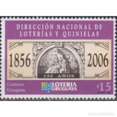 Sellos: UY2957 URUGUAY 2006 MNH THE 150TH ANNIVERSARY OF THE NATIONAL LOTTERY. Lote 287536238