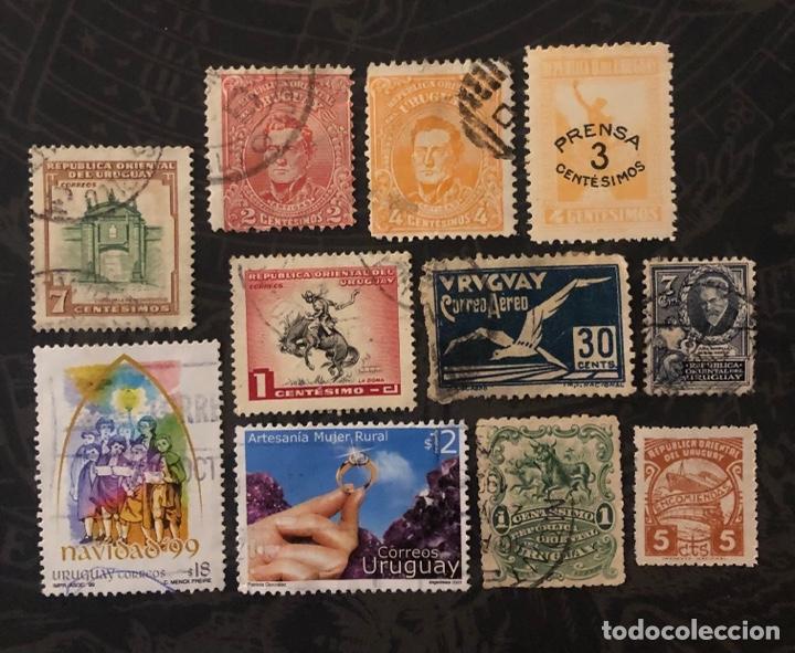LOTE 11 SELLOS USADOS URUGUAY (440) (Sellos - Extranjero - América - Uruguay)