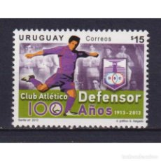 Sellos: UY3291 URUGUAY 2013 MNH FOOTBALL - THE 100TH ANNIVERSARY OF CLUB ATLETICO DEFENSOR. Lote 293397608