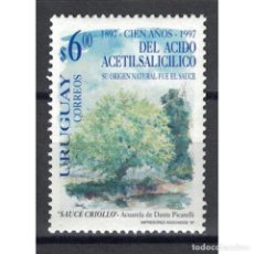 Sellos: UY2275 URUGUAY 1997 MNH THE 100TH ANNIVERSARY OF THE DISCOVERY OF ACETYLSALYCYLIC ACID. Lote 293398923