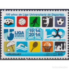 Sellos: UY3359 URUGUAY 2014 MNH THE 100TH ANNIVERSARY OF THE UNIVERSITY SPORT LEAGUE. Lote 293408428