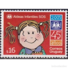 Sellos: UY2866 URUGUAY 2005 MNH THE 45TH ANNIVERSARY OF THE SOS CHILDREN'S VILLAGE. Lote 293409943