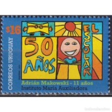 Sellos: UY2896 URUGUAY 2005 MNH THE 50TH ANNIVERSARY OF THE MAGAZINE FOR STUDENTS EL ESCOLAR. Lote 293410018