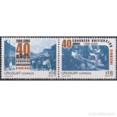 Sellos: UY2934 URUGUAY 2006 MNH THE 40TH ANNIVERSARY OF THE TRADE UNION. Lote 293410188