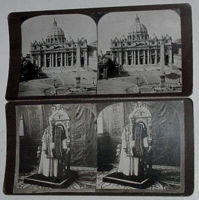 2 FOTOS 1903 DEL PAPA PIO X Y DEL VATICANO (Sellos - Extranjero - Europa - Vaticano)