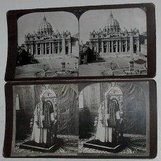 Sellos: 2 FOTOS 1903 DEL PAPA PIO X Y DEL VATICANO. Lote 13995941