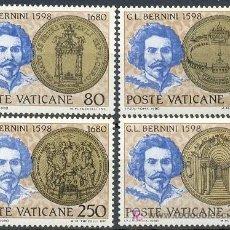 Sellos: VATICANO - 3ºCENTENARIO DE BERNINI. NUEVOS CON GOMA ORIGINAL . Lote 4487299