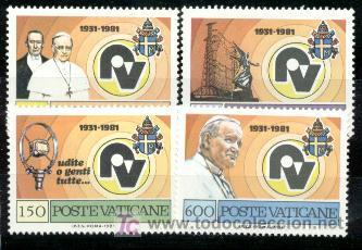 VATICANO. 702/05 RADIO VATICANA**. 1981 (Sellos - Extranjero - Europa - Vaticano)