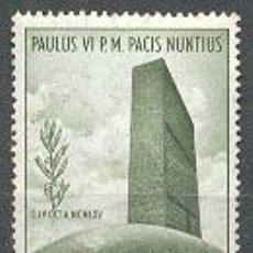 Sellos: VATICANO. VIAJE DEL PAPA PABLO VI A NACIONES UNIDAS. IVERT Nº 436. NUEVO ***. Lote 4651504