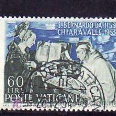 Sellos: VATICANO 190 USADA, VIII CENTº MUERTE SAN BERNADO, ABAD DE CLAIRVAUX, APARICION VIRGEN AL SANTO. Lote 10188799