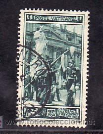 VATICANO 159 USADA, CENTENARIO DE LA GUARDIA PALATINA DE HONOR, (Sellos - Extranjero - Europa - Vaticano)