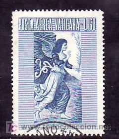 VATICANO AEREO 30 USADA, ANUNCIACION, (Sellos - Extranjero - Europa - Vaticano)
