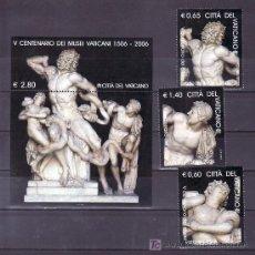 Sellos: VATICANO 1417/9, HB 30 SIN CHARNELA, ESCULTURA, ARTE, V CENTENARIO DEL MUSEO VATICANO, . Lote 12085401