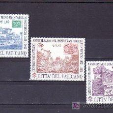 Sellos: VATICANO 1263/5 SIN CHARNELA, 150 ANIVERSARIO DEL PRIMER SELLO ESTADO PONTIFICIO,. Lote 10126429