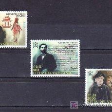 Sellos: VATICANO 1227/9 SIN CHARNELA, MUSICA, CENTENARIO MUERTE DEL COMPOSITOR GIUSEPPE VERDI. Lote 10126576
