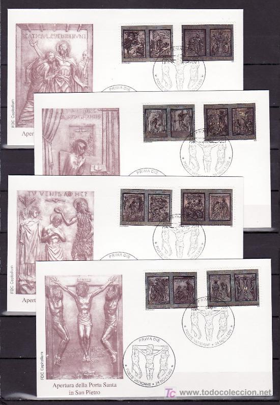 VATICANO 1161/8 PRIMER DIA, AÑO SANTO 2000, APERTURA DE LA PUERTA SANTA DE LA BASILICA DE SAN PEDRO, (Sellos - Extranjero - Europa - Vaticano)