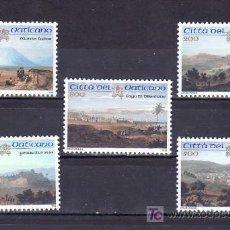 Sellos: VATICANO 1142/6 SIN CHARNELA, PINTURA, LUGARES SANTOS DE PALESTINA, . Lote 10126681