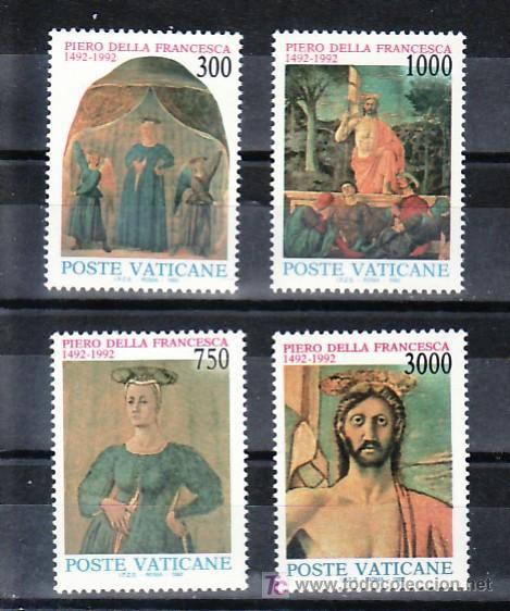 VATICANO 926/9 SIN CHARNELA, PINTURA, 500 ANIVERSARIO MUERTE DEL PINTOR PIERO DELLA FRANCESCA, (Sellos - Extranjero - Europa - Vaticano)