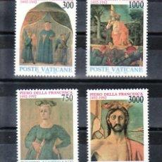 Sellos: VATICANO 926/9 SIN CHARNELA, PINTURA, 500 ANIVERSARIO MUERTE DEL PINTOR PIERO DELLA FRANCESCA, . Lote 11282745