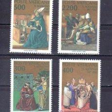 Sellos: VATICANO 802/5 SIN CHARNELA, XVI CENTENARIO CONVERSION Y DEL BAUTISMO DE SAN AGUSTIN,. Lote 162881210