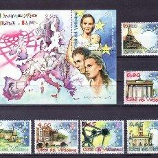 Sellos: VATICANO 1438/43, HB 32 SIN CHARNELA, 50º ANIVERSARIO DEL TRATADO DE ROMA, . Lote 11523763
