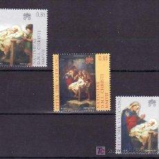 Sellos: VATICANO 1451/3 SIN CHARNELA, NAVIDAD, PINTURA NATIVIDAD DE GIUSEPPE CALI, . Lote 11524253