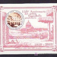 Sellos: VATICANO HB 24 SIN CHARNELA, 150 ANIVERSARIO DEL PRIMER SELLO ESTADO PONTIFICIO,. Lote 10119182