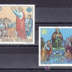 Sellos: VATICANO AEREO 73/4 SIN CHARNELA, AÑO MUNDIAL DE LAS COMUNICACIONES, . Lote 63450703