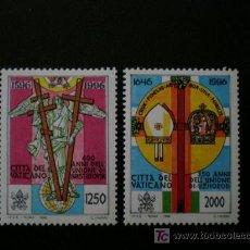 Sellos: VATICANO 1996 IVERT 1034/5 *** 400º ANIVERSARIO DE LA UNIÓN DE BREST-LITVOSK. Lote 10938108