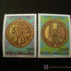 Sellos: VATICANO 1987 IVERT 809/10 *** 800 ANIVERSARIO DE LA EVANGELIZACIÓN DE LETONIA. Lote 18917842