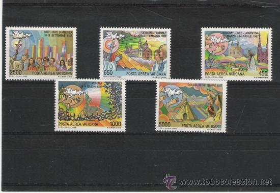 VATICANO SELLOS DE LA SERIE AEREA COMPLETA 83/87 (Sellos - Extranjero - Europa - Vaticano)