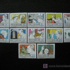 Sellos: VATICANO 1984 IVERT 755/66 *** VIAJES DE JUAN PABLO II (II). Lote 20875994