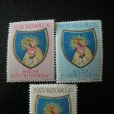 Sellos: VATICANO 1954 IVERT 207/9 *** CLAUSURA DEL AÑO MARIANO. Lote 20875944